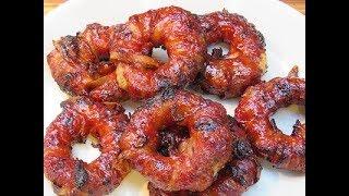 Bacon Cheeseburger Onion Rings!
