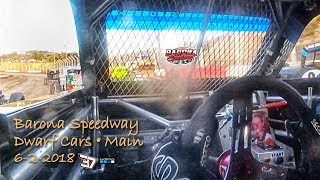 Barona Speedway Dwarf Car Main as seen by #37 GoPro 6-2-2018