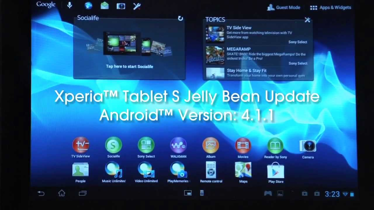 Android™ 4 1 1 Jelly Bean on your Xperia™ Tablet S - YouTube