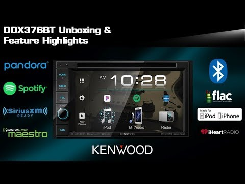 2019 Kenwood Ddx376bt Dvd Multimedia Receiver Unboxing Feature Highlights Youtube