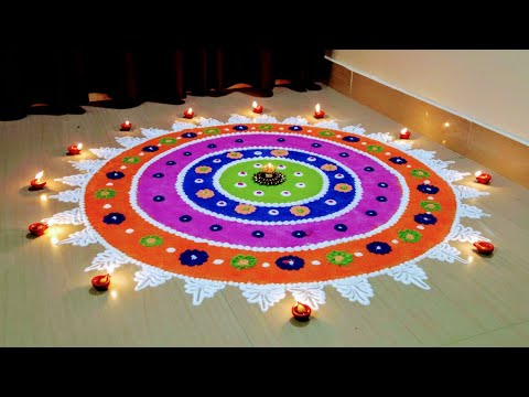 Very Easy and Beautiful Rangoli Designs For Bhai Dooj | Diwali Rangoli |easy rangoli Design