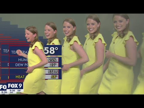 Graphics glitch: Minnesota meteorologist multiplies on screen during report