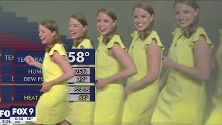 Meteorologist multiplies on screen during graphics glitch | FOX 9 KMSP