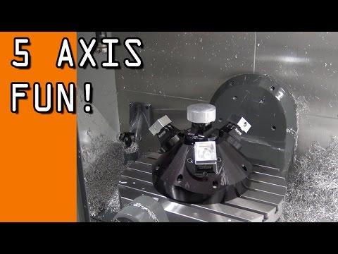 5-Axis Fun!  Multi-Part Machining Demo!