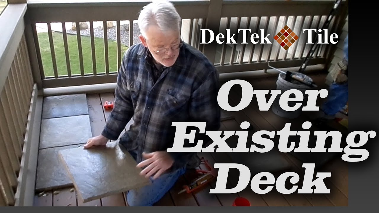 How To Install Dektek Tile S Concrete Deck Tiles Over Existing Wood Decking