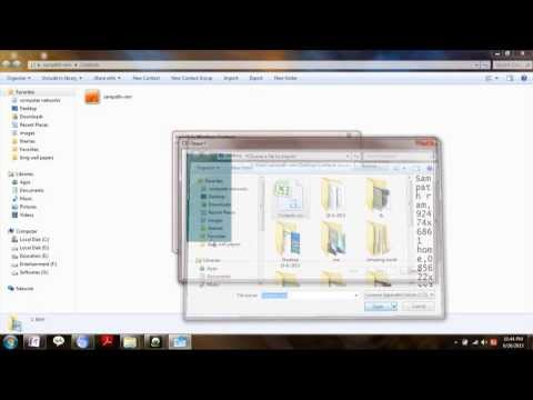 How to convert .csv (Common seperated value) file to .vcf ( V card file) No Software NEEDED... !!