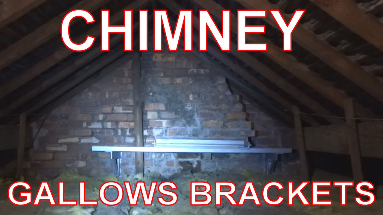 Chimney Breast Removal  How to fit Gallows Brackets in Loft    YouTube. Living Room Chimney Removal. Home Design Ideas