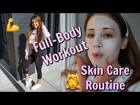 30-min FULL BODY Workout | Skin Care Routine | iPhone X Review