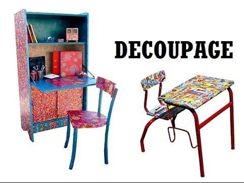 Decoupage muebles con decoupage youtube for Decoupage con servilletas en muebles