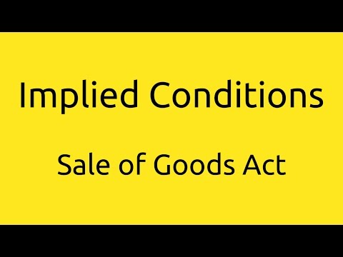 What are Implied Conditions | Conditions and Warranties | CA CPT | CS & CMA Foundation | BCom