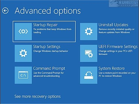 How to Create an Advanced Startup Options Shortcut