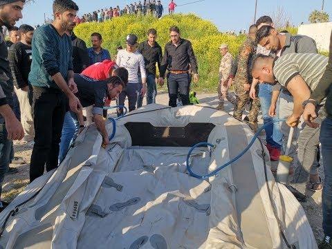 بعد فاجعة العبارة في الموصل.. أهالي الضحايا يتظاهرون في موقع الكارثة  - 22:55-2019 / 3 / 22