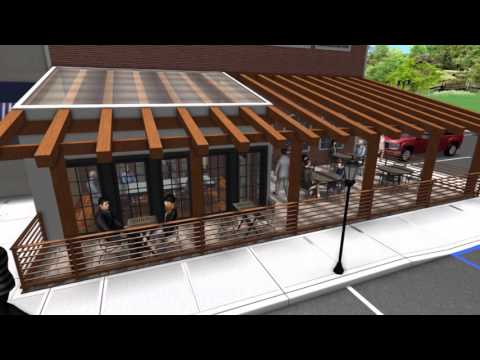 Landscape Design 3d Walkthrough Restaurant Addition