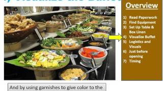 Main Event Caterers Video on Buffet Set Up