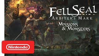 Fell Seal: Arbiter's Mark - Missions and Monsters DLC - Launch Trailer | Nintendo Switch