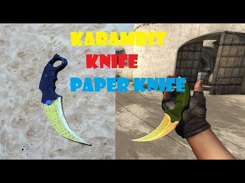 """butterfly knife""paper (CS:GO karambit knife)show off😂"