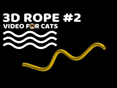 CAT GAMES - 3D ROPE #2. Video for Cats to Watch.