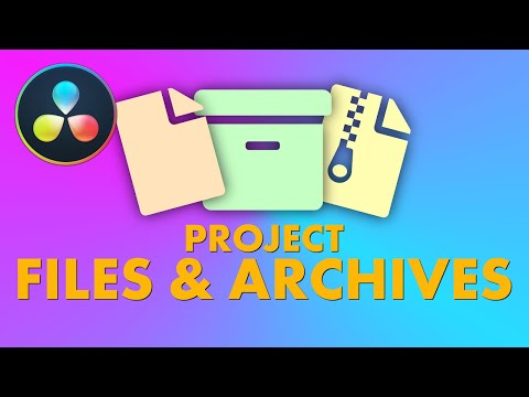Save Project Files And Make Project Archives In DaVinci Resolve