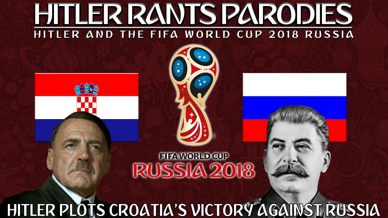 Hitler plots Croatia's victory against Russia in the World Cup