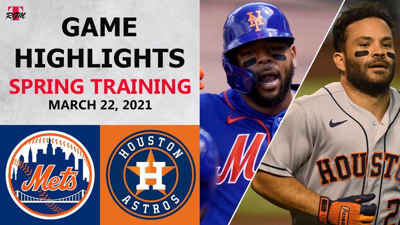 New York Mets vs. Houston Astros Highlights   March 22, 2021 (Spring Training)