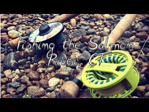 FLY FISHING The SALMON RIVER, CT(caught Salmon&trout)