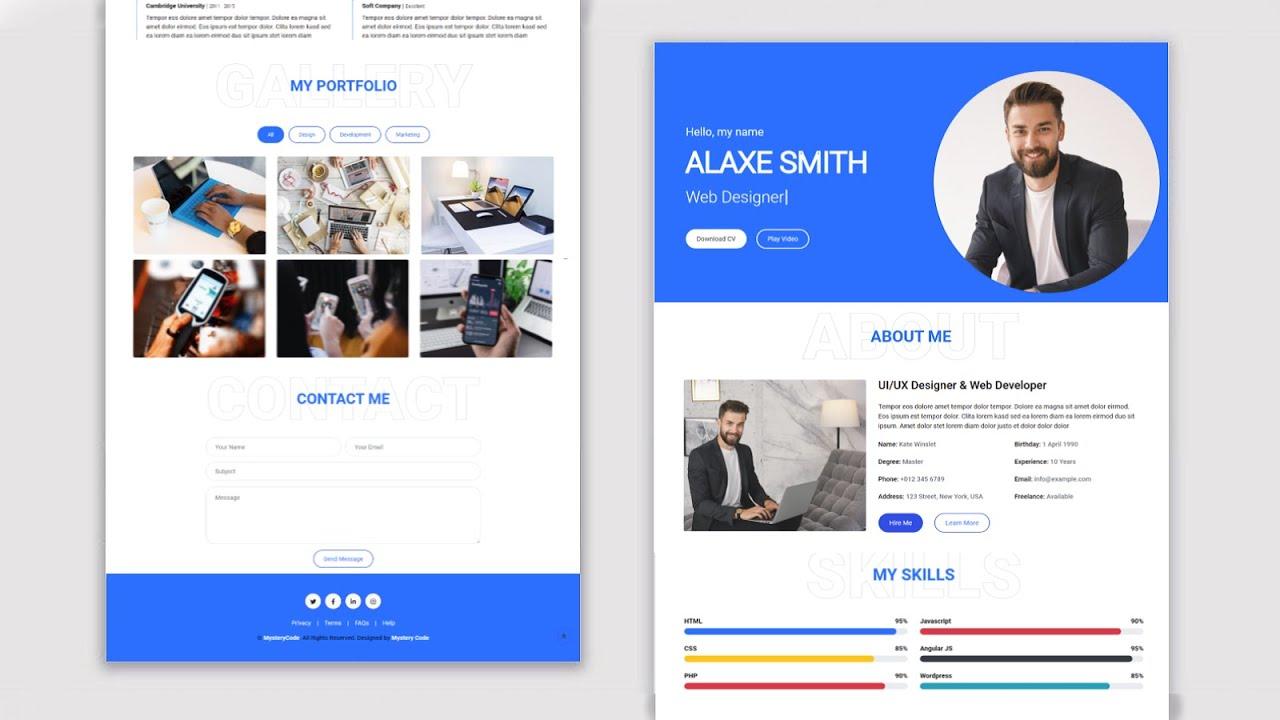 Personal Portfolio Website Using HTML, CSS and JavaScript