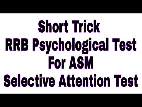 Short Trick RRB NTPC PSYCHOLOGICAL TEST FOR RRB ASM | Measuring Selective Attention Aptitude Test