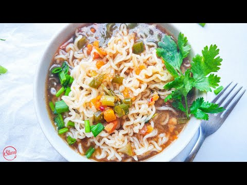 Vegetable Noodle Soup | Comforting & Healthy Veg Noodle Soup for a Lazy Evening