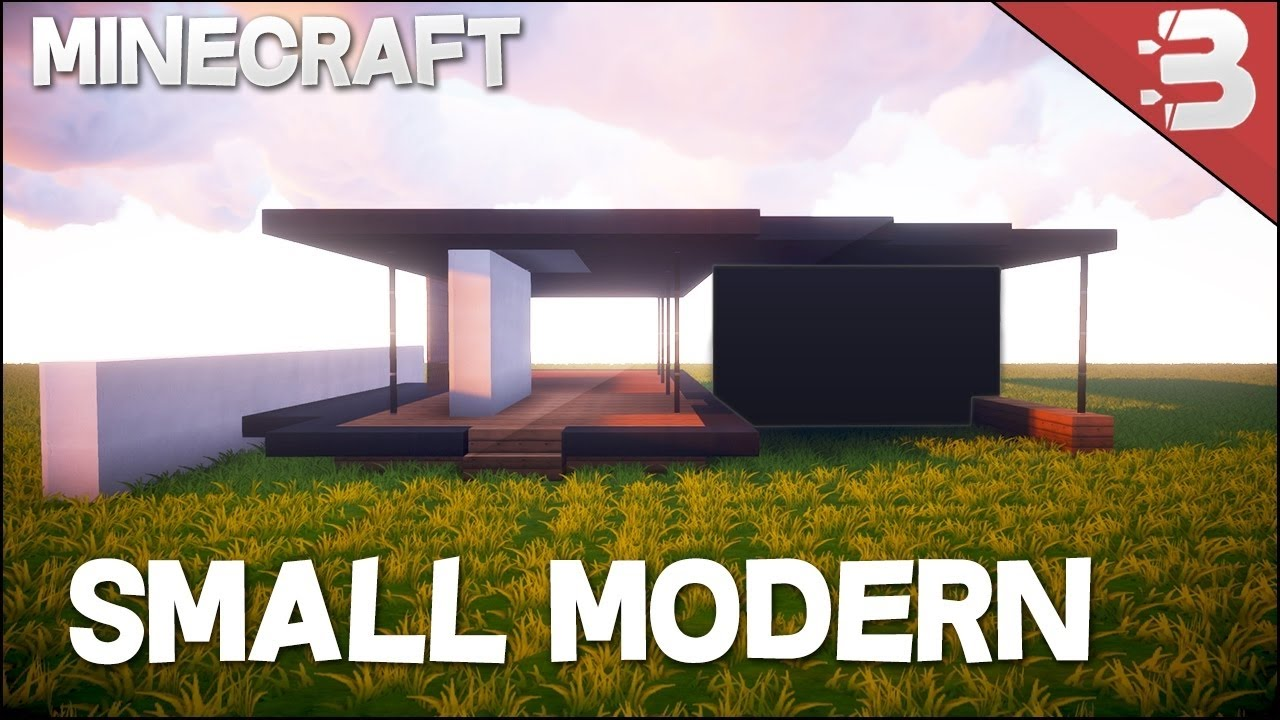 Minecraft 10x10 Modern House Tutorial Easy To Follow Minecraft House Design