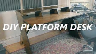 DIY Output Platform music studio desk