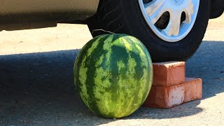 Top 100 Crushing Crunchy & Soft Things by Car Compilation! - Experiment: Watermelon vs Car