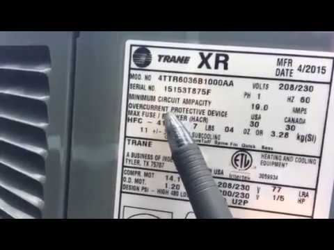trane model and serial number breakdown