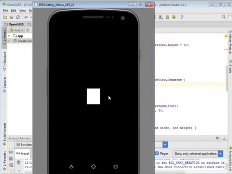 Draw a Square in Android OpenGL ES Tutorial