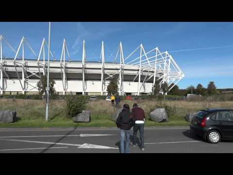 Liberty Stadium Swansea City video from road to South