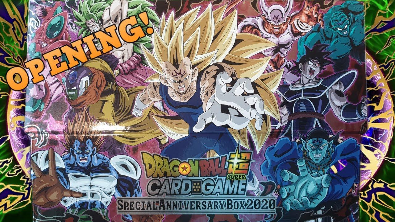 Dragon Ball Super Card Game Anniversary Box 2020 Opening