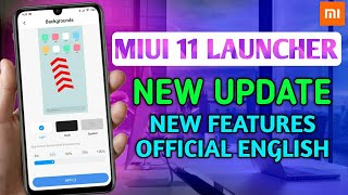 MIUI 11 LAUNCHER NEW UPDATE OFFICIAL | BEST UPDATE | APP DRAWER | NO CHINESE LANGUAGE, ICON BUG FIX