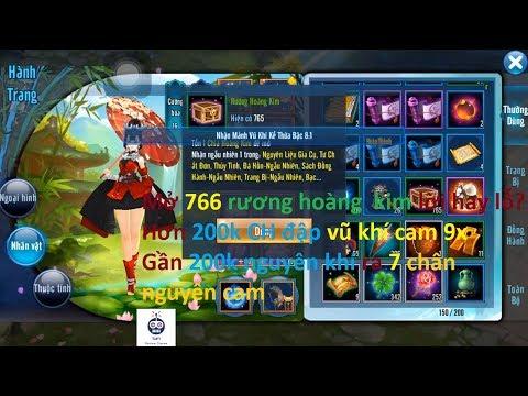 VLTK Mobile   Mở hơn 700 rương hoàng kim + đập vũ khí cam 9x + 7 chân nguyên cam   Sin RG
