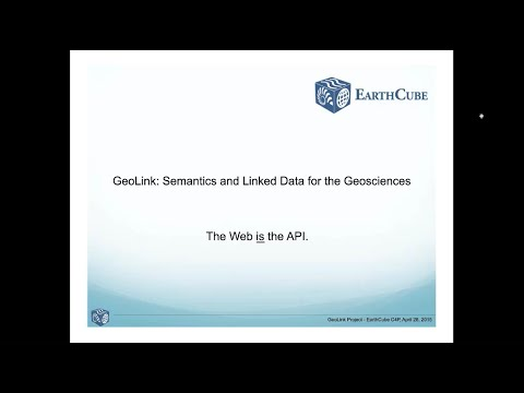 Cyber4Paleo Webinar 23: GeoLink - Semantics and Linked Data for the Geosciences