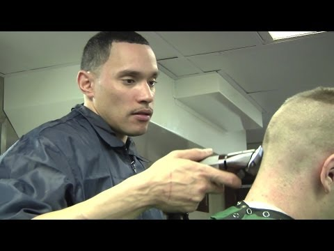 Getting a Haircut Aboard USS Enterprise