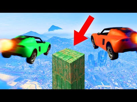 Thumbnail: LAND ON THE IMPOSSIBLE PLATFORM CHALLENGE! (GTA 5 Funny Moments)