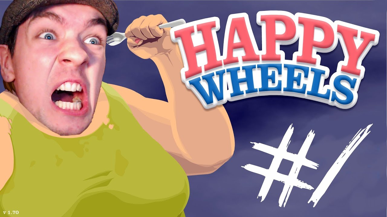 Happy Wheels Part 1 This Game Is My Bitch Youtube