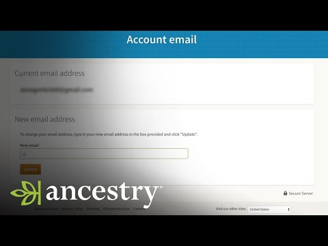 How To Update Your Email Address | Ancestry Academy