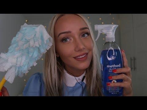 ASMR Maid Cleaning Role Play Binaural | GwenGwiz