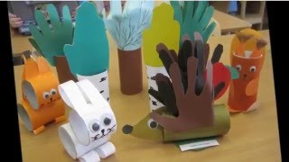 Совсем детские поделки из тубов туалетной бумаги Делают дети своими руками