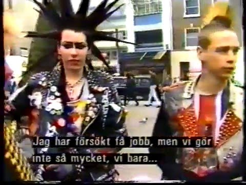 Magasinet, Swedish TV 1987 About Punk 10 Years Later, Interview With London Punks