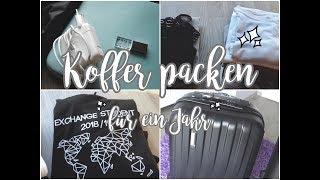 Koffer packen für EIN GANZES JAHR 🗺 🌟// AUSLANDSJAHR USA 2018/19