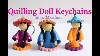 Quilling Doll Keychain/ Miniature quilling dolls/ DIY Key Chain