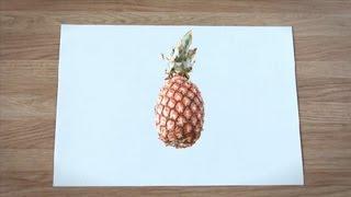 Como desenhar um abacaxi : Como desenhar frutas