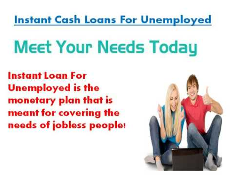 Instant Loans For Unemployed Rapid Money For Non Working Folks In Urgencies