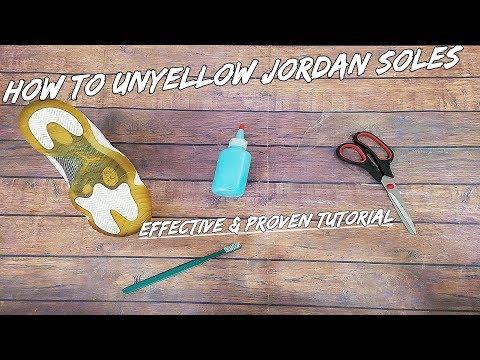 How To Unyellow Jordan Soles | AMAZING Icy Soles Restoration